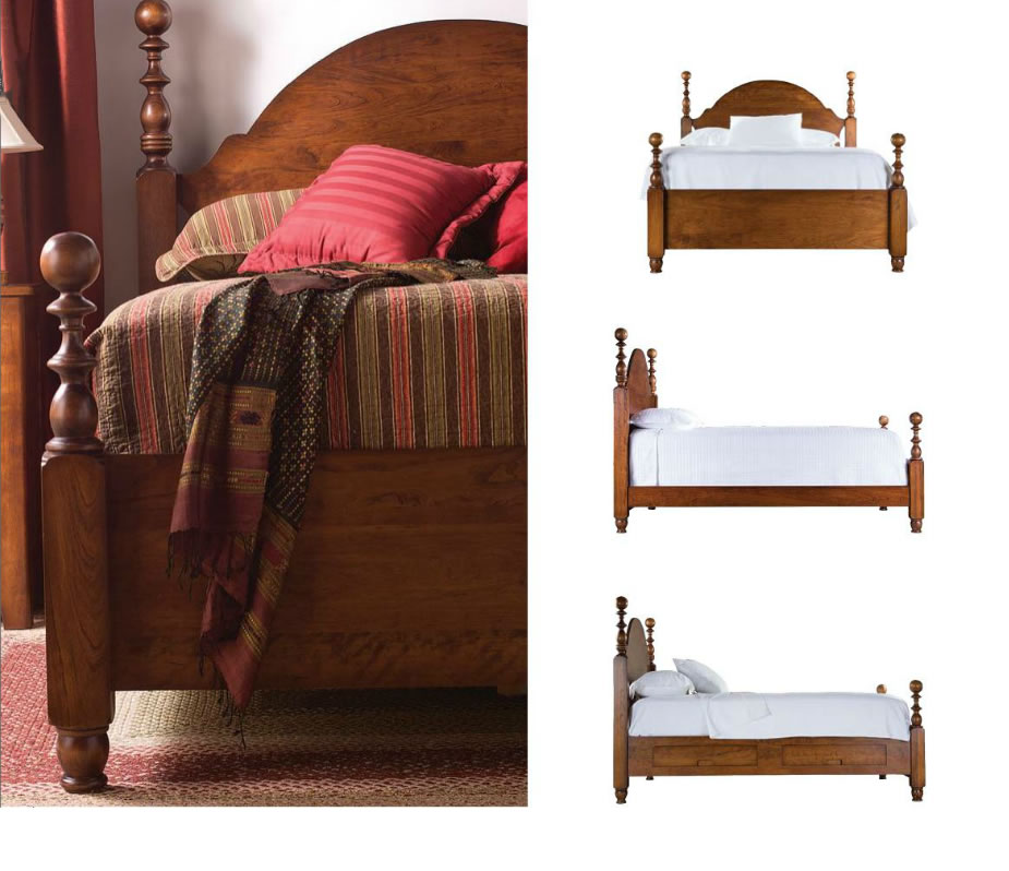 King size cannonball poster bed for sale