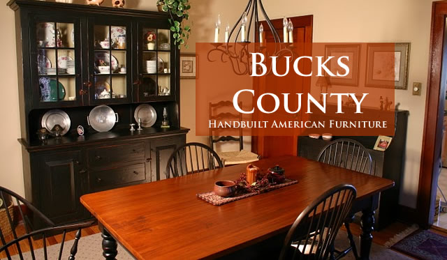 Bucks County Dining Table And Hutch