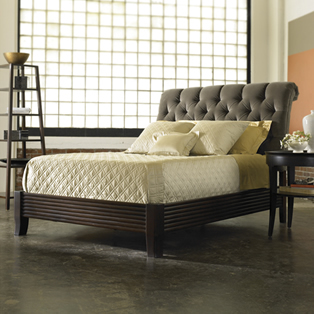 stickley tufted leopold bed upholstered