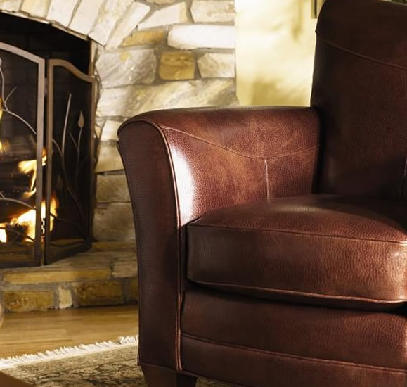 stickley telluride leather chair
