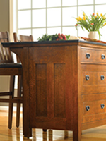stickley mission kitchen island