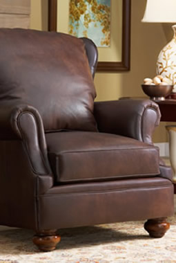craftsman leather grisham chair