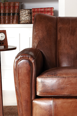 Leather club chairs by Stickley