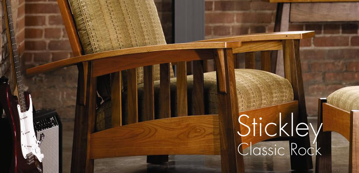 stickley morris chair cherry