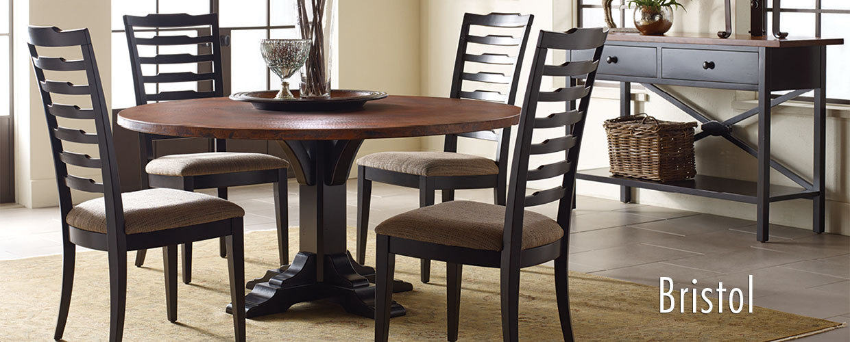 nichols and stone bristol table ladder back chairs