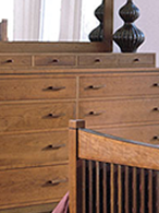 Metropolitan bedroom by Stickley