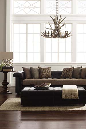Stickley Furniture leather sofa Chicago