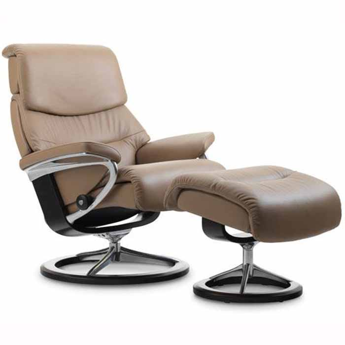capri stressless recliner signature base