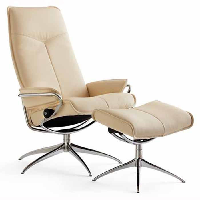 city stressless recliner chair star base