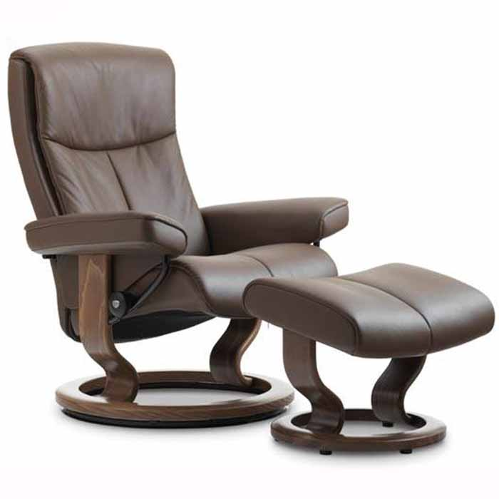 peace stressless recliner classic base