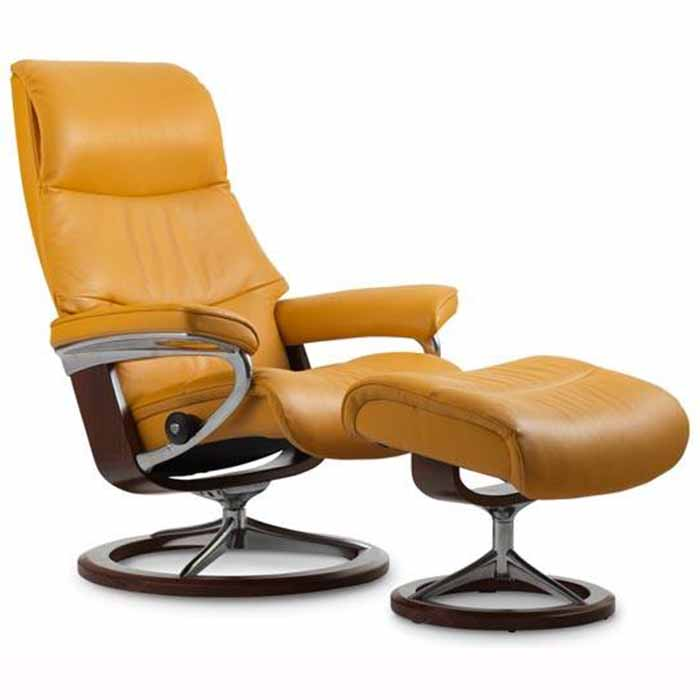 view stressless recliner signature base