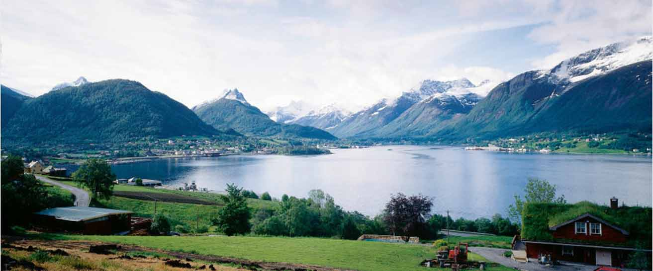 view of fjord and Ikornnes Norway