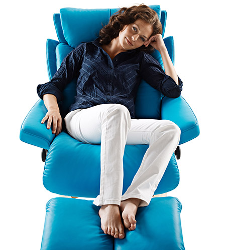 magic recliner stressless blue leather