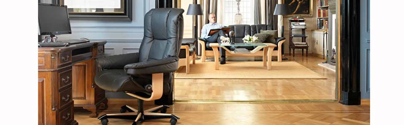 Mayfair office chair in room setting